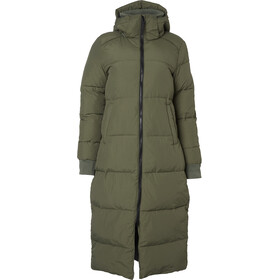 North Bend Puff Long Jacket Women green utility